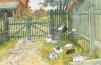 "Carl Larsson, ""The Gate"""