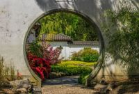 Moon Gate in the Chinese Garden