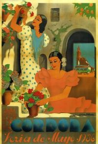 Themes Vintage Travel Poster - Cordoba Spain
