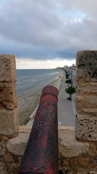 view from Larnaka Castle, Cyprus