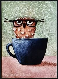 OWL WITH GLASSES...
