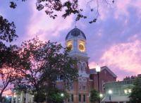Evening in Covington, GA town square