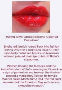 Red lipstick and WWII