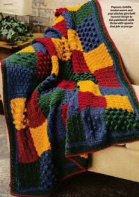 Gorgeous Tactical Squares Throw Afghan