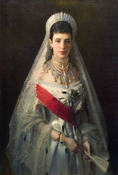 Kramskoy - portrait-of-maria-fyodorovna-born-princess-dagmar-of-denmark-wife-of-russian-tsar-alexander-iii - 1880