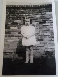 My sister Mildred at 3 1/2 years old