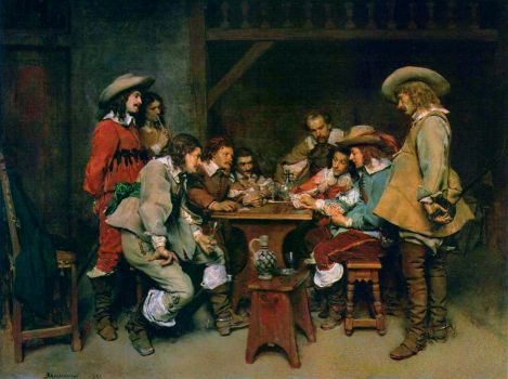 Ernest Meissonier - A Game of Piquet (1861)