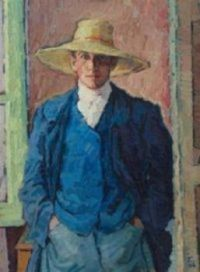 Rudolf Tewes, self portrait
