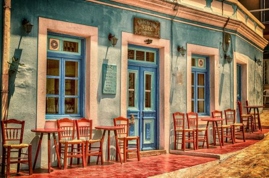 Græsk café / Café in Greece