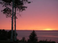 Sunset over the Chequamegon Bay