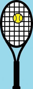 CA 844 - Tennis racket and ball