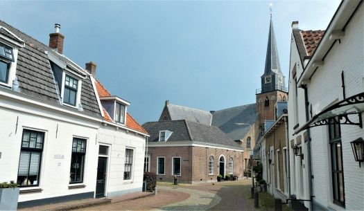 Church and street in Geervliet