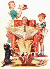 Home Sweet Home by J.C. Leyendecker