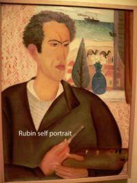 Reuven Rubin self portrait, more details below