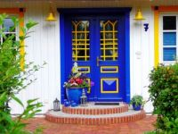 Blue Yellow Entrance