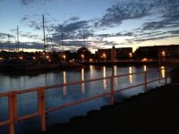 Cobourg Ontario Harbour at dusk