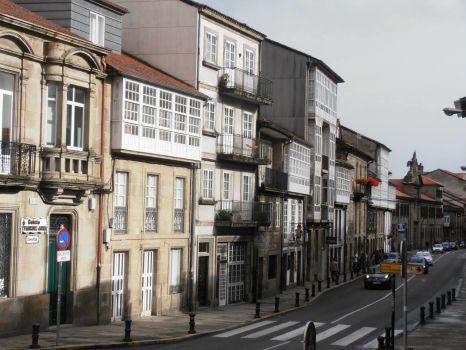Galician balcony houses