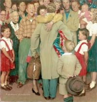 Norman Rockwell - A christmas homecoming