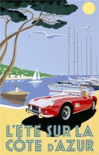 1959 Ferrari 250 GT California Spider - Côte d'Azur by Charles Avalon