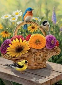 Summer Bouquet – Songbirds by Rosemary Millette