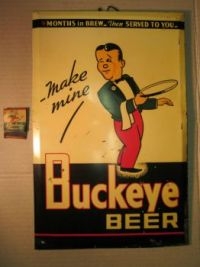Vintage Buckeye Beer sign