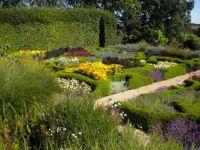 Parterre at Broughton Grange Gardens, Oxfordshire