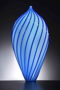 Blue-ti-ful Vase W/Room For One Flower