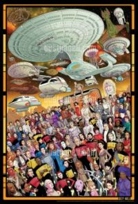 STAR TREK THE NEXT GENERATION 30TH ANNIVERSARY OFFICIAL 3 PRINT SET LIMITED