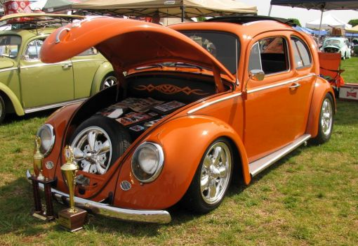 Nice orange VW Bug