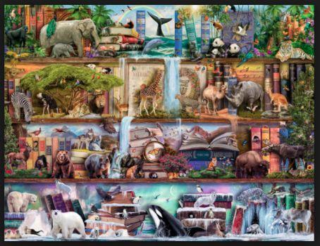 Wild Kingdom Shelves Jigsaw Puzzle