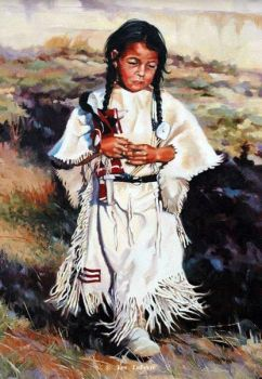 Native American young girl