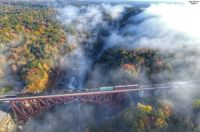The Autumn Express in Letchworth State Park