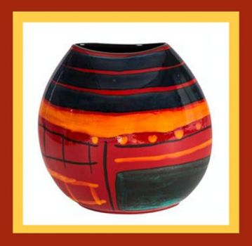 Large Purse Vase, 2016 Ceramic Vase, Barbara Rae