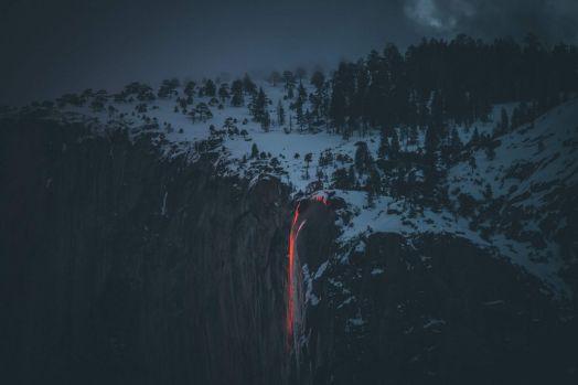 Snowy Mountain Landscape by Casey Horner