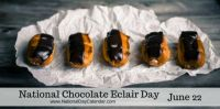 Today Is National Chocolate Eclair Day!!