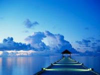 blue dock