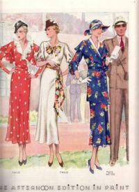 Outdoor Event Dresses 1930s