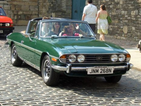 A 1975 2997cc Triumph Stag Convertable at Castle Hill, Lincoln - 8th Jun 2008
