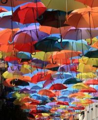 colourfull umbrellas