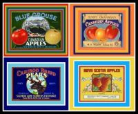 Canadian  Vintage Fruit Crate Labels