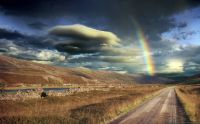 Rainbow in the evening, Iceland...