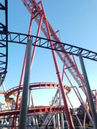 Roller coaster at Knott's Berry Farm California