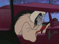 Cruella...slinkin' out of town!!!