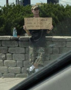 Not Homeless, Jus sayin Hi