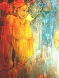 Adam and Eve.  ( acrylics on canvas )