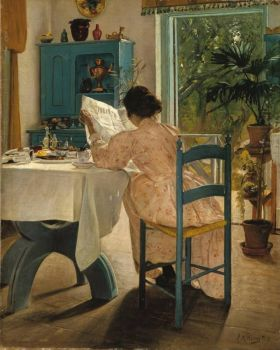 "Laurits Andersen Ring, ""At Breakfast"" 1898, Nationalmuseum Stockholm"
