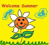 Summer Bliss Welcome Summer Doodle