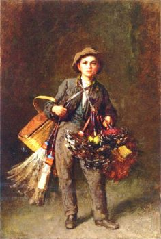 Feather Duster Boy by Eastman Johnson