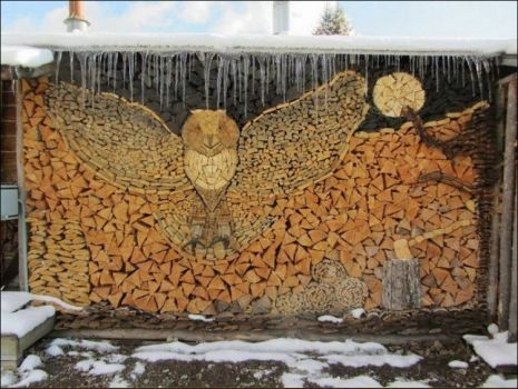 How to stack your firewood:)