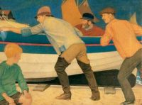 Joseph Southall, Up from the Sea (1920)